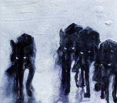 Original Art Wolf Series by Liliana Velasquez Berlin 2017